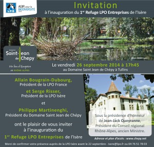 Invitation inauguration refuge LPO